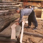 Restauration au chantier du Guip en 2000
