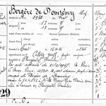 Inscription de la Bergère de Domrémy avec ses propriétaires jusqu'en 1956