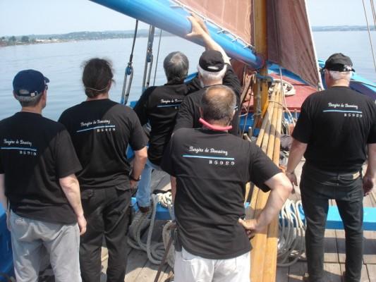 T-shirts portés par l'équipage de la Bergère de Domrémy