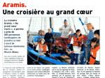 Le Télégramme du 20 septembre 2008 : Aramis, une croisière au grand cœur
