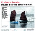 Le Télégramme du 16 septembre 2012 : Croisière Aramis, balade de rêve sous le soleil
