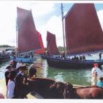 La Bergère de Domrémy, Saint-Guénolé et les autres coquilliers de la rade de Brest à la fête du Tinduff (juillet 2014)