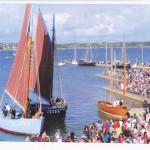 La Bergère de Domrémy, les autres coquilliers de la rade de Brest et la chaloupe XVIIIème siècle Marie-Claudine à la fête du Tinduff (juillet 2014)