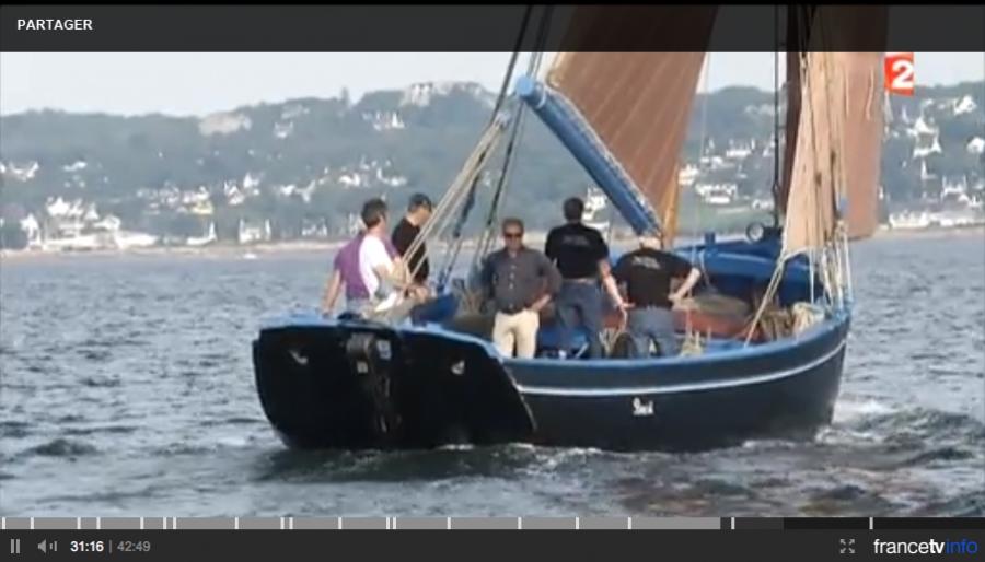 Reportage du journal télévisé de France2 sur le Général Leclerc et les coquilliers de la rade de Brest