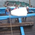 Préparation du bateau pour l'hivernage - Photo Charly Neuder